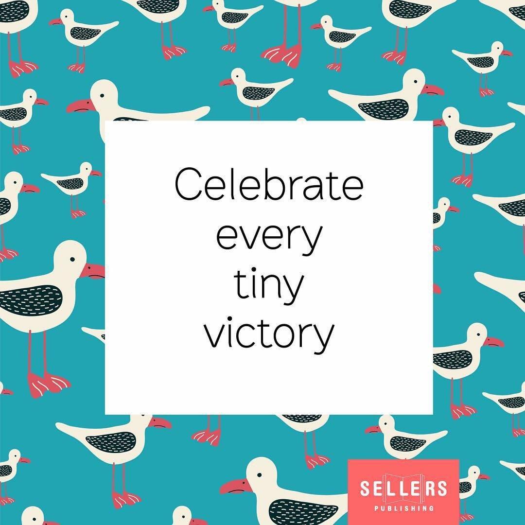 Tuesday Motivation 💫 #quoteoftheday #sellerspublishing #celebrateeverytinyvictory #seagull #yougotthis #motivationalquotes