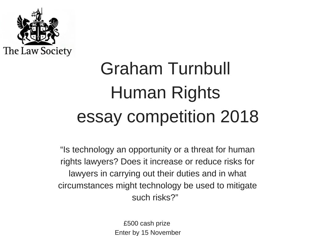 trainee solicitor essay competition The law society has invited law students, trainee solicitors, pupil barristers and other junior lawyers to enter its annual graham turnbull essay competition, which this year is on the topic of human rights the title for this year's competition is: applying human rights and humanitarian law, in.