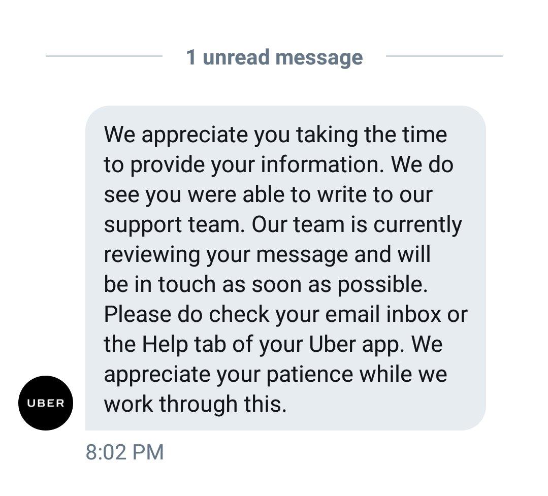 Uber Support on Twitter: