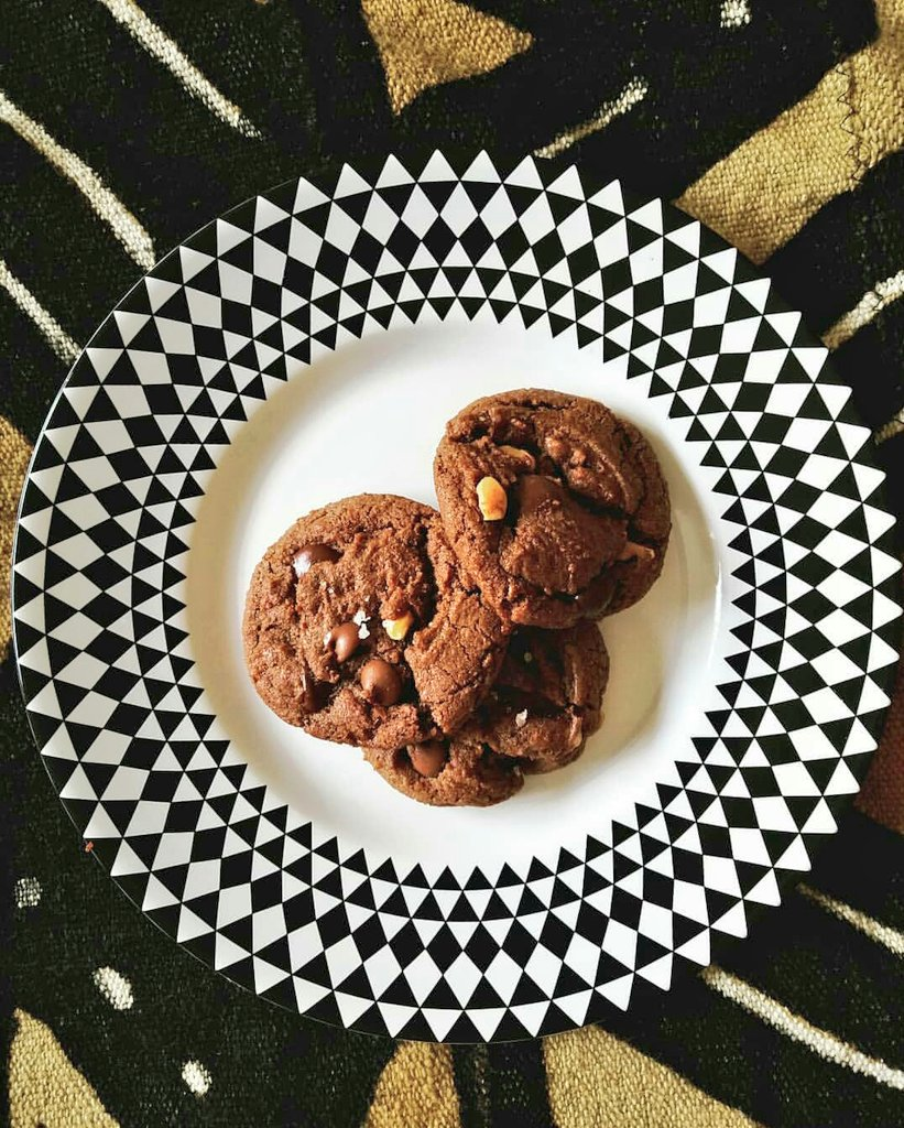 We had to do it! Introducing.... TChocolate: a brown butter fudge cookie with homemade toffee, hazelnuts, milk chocolate + dark chocolate 😋🍫😍 #chocolatelovers #chocolatecity #chocolateonchocolate #WakandaForever