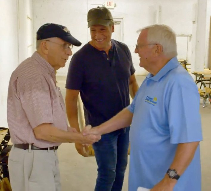 """I was the """"nominator"""" on this #ReturningTheFavor & @mikeroweworks was the """"builder my parents were hand to bear witness. #ProjectJumpstart is transforming lives & changing @Baltimore. Thanks to @hudsunmedia & @Facebook for letting me hijack this episode bit.ly/RTFAmerican2nd…"""