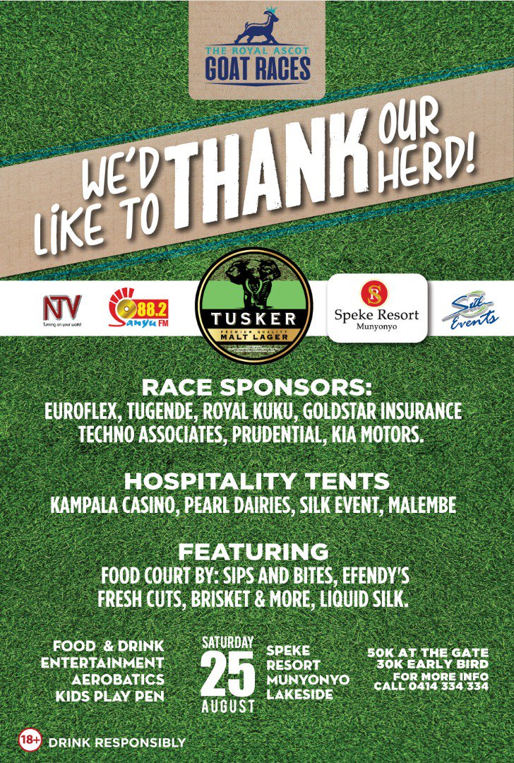 We would  like to thank  our herd of sponsors of the #GoatRacesKla<br>http://pic.twitter.com/fn12vyH0N5