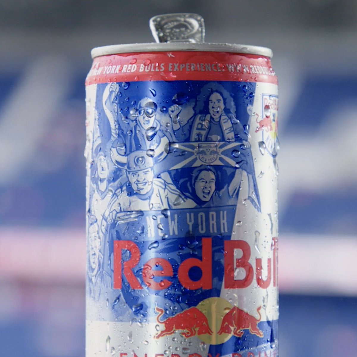 Next time you pick up a Red Bull, you might see some supporters you recognize… Limited edition @Red Bull x #RBNY Supporters Cans are hitting shelves across the tri-state area, celebrating our passionate fans and their unmatched support!