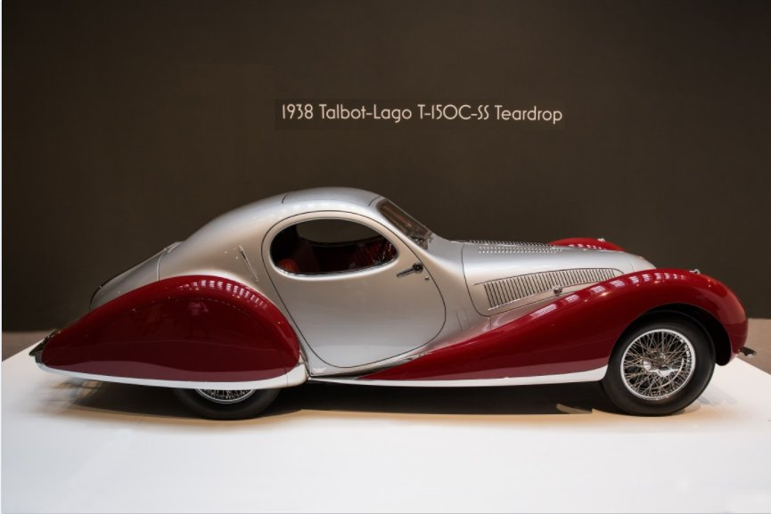 #transportationtuesday the 1938 Talbot-Lago Teardrop. Talbot-Lago was a French automobile manufacturer outside of Paris. Talbot-Lago cars have become top-prizes at automobile auctions, selling for as much as 3.5 million #artdeco #vintage #cart #vintagecar #1938 #talbotlago