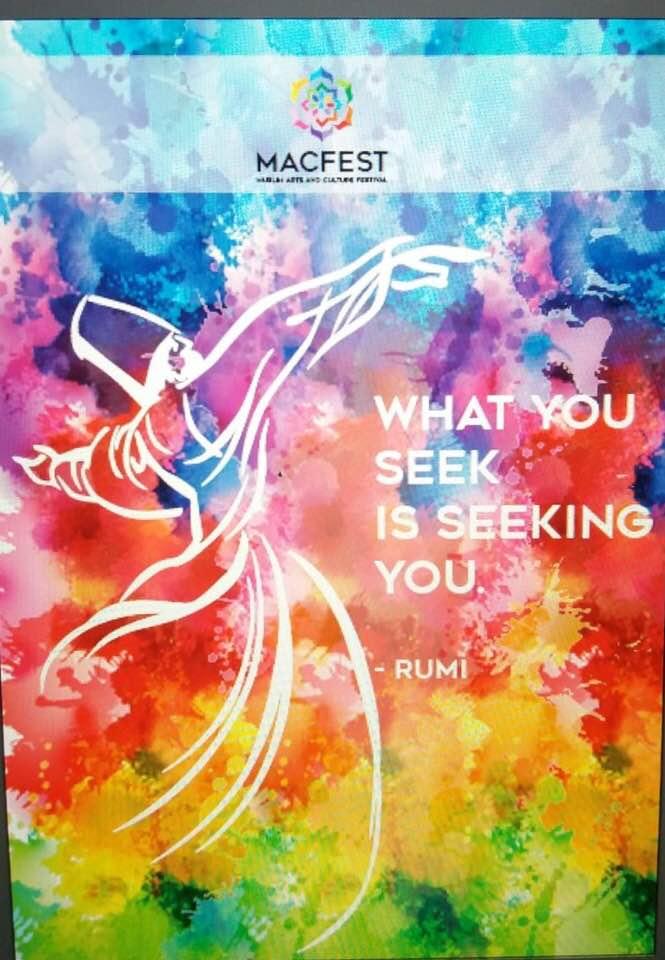 #EidMubarak Mubarak to all #Muslim friends around the world. Greetings from #MACFESTUK @MACFESTUK team with our #Literature banner celebrating famous Muslim #poets & #philosopher #Rumi. Wait for more celebrating #art & #culture #architecture - @HC_PinnaClear @WomenWriters