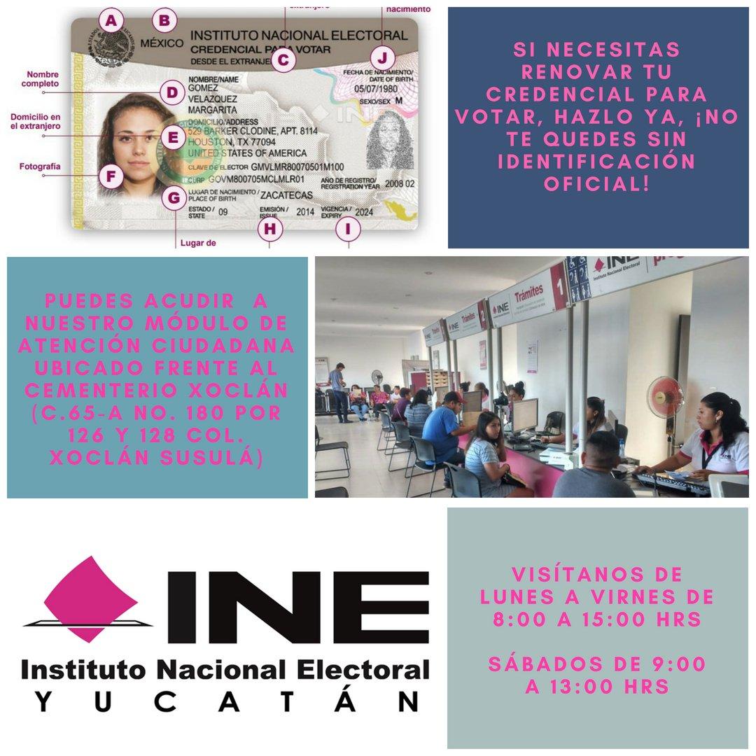 Ine Yucatán On Twitter Tu Credencial Vence Durante 2018