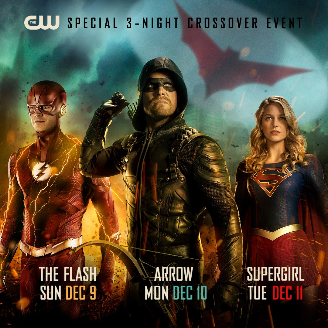 The CW's 3-night crossover event featuring #TheFlash, #Arrow, and #Supergirl begins December 9!