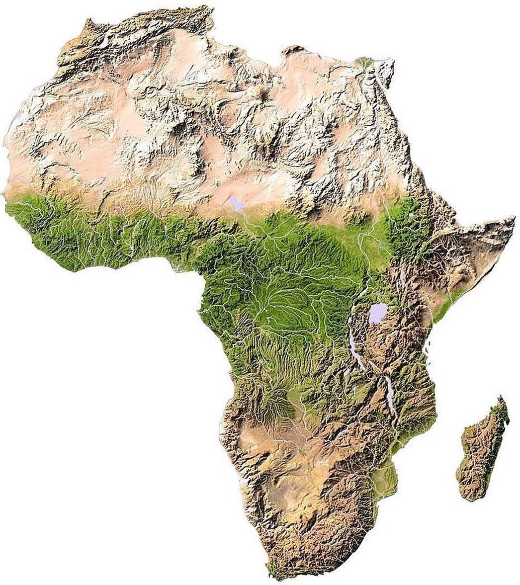 Elevation Map Of Africa With Key.Mapscaping On Twitter Topographic Map Of Africa Https T