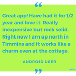 Take Fongo to the cottage and continue making calls as if you were still at home! #TestimonialTuesday
