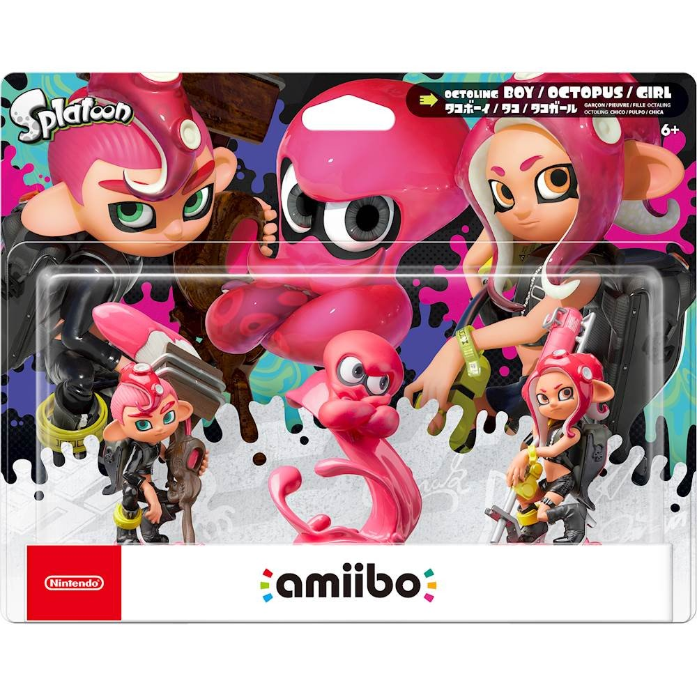 SPLATOON SERIES OCTOLING 3-PACK AMIIBO GIVEAWAY Rules to enter: - Follow me - RT this tweet - Reply why you want this amiibo and what you like about the Octolings with #Splatoon + #WoomyGiveaway BONUS ENTRY: - Reply with what did you think about the Octo Expansion