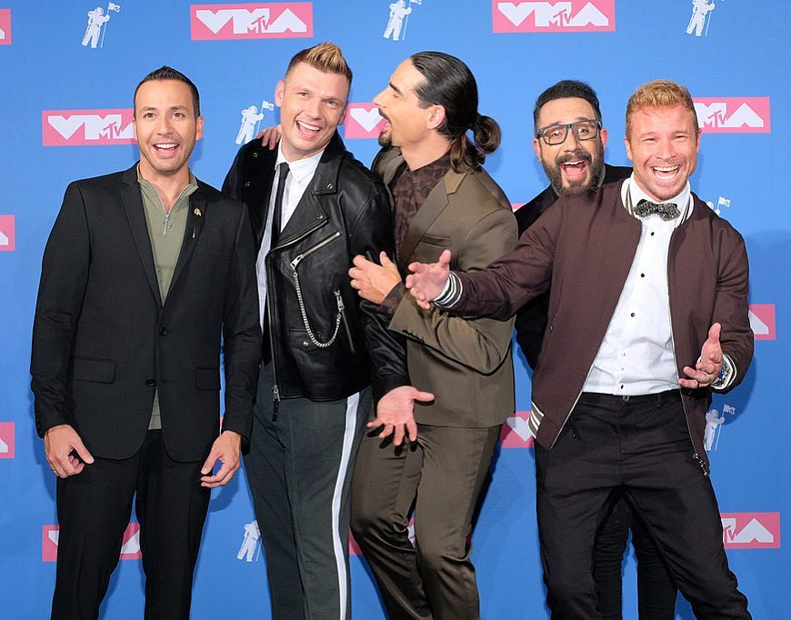 Still having the best times of our lives together! Thank you @vmas @MTV & always the #BackstreetArmy for all of your ❤️ - Howie, Nick, Kevin, AJ & Brian #VMAs #BSBonVMAs