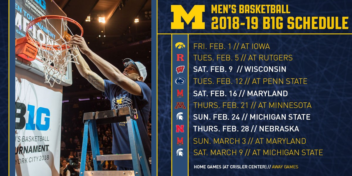 Michigan Men S Basketball On Twitter Schedule News The