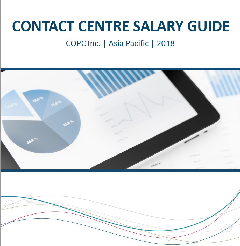 Now available: The 2018 COPC Inc. Contact Centre Salary Guide, Asia Pacific region. Constructed with data from over 160 contact centres from across the APAC region and representing over 200,000 frontline seats. Get yours now: go.copc.com/l/413892/2018-…