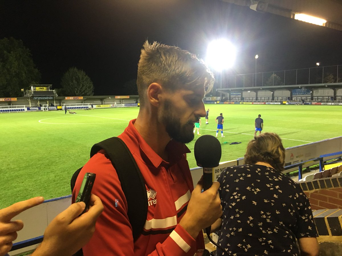"""The boys had to put a shift in tonight, we dug in.... overall I'm really satisfied."" #Saddlers' centre half Jon Guthrie reacts to the 3-1 win at AFC Wimbledon, their 3rd successive victory in all competitions."