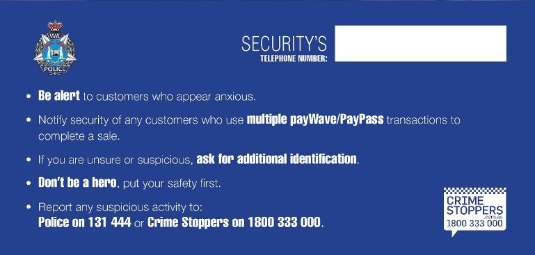Fremantle Police On Twitter Credit Card Fraud Information For Business Owners