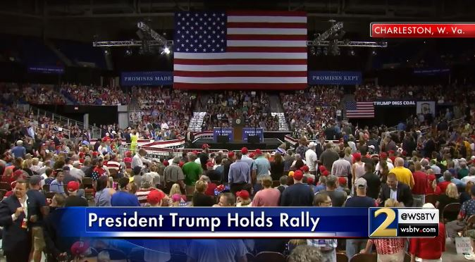 Happening now: president is holding a rally in charleston