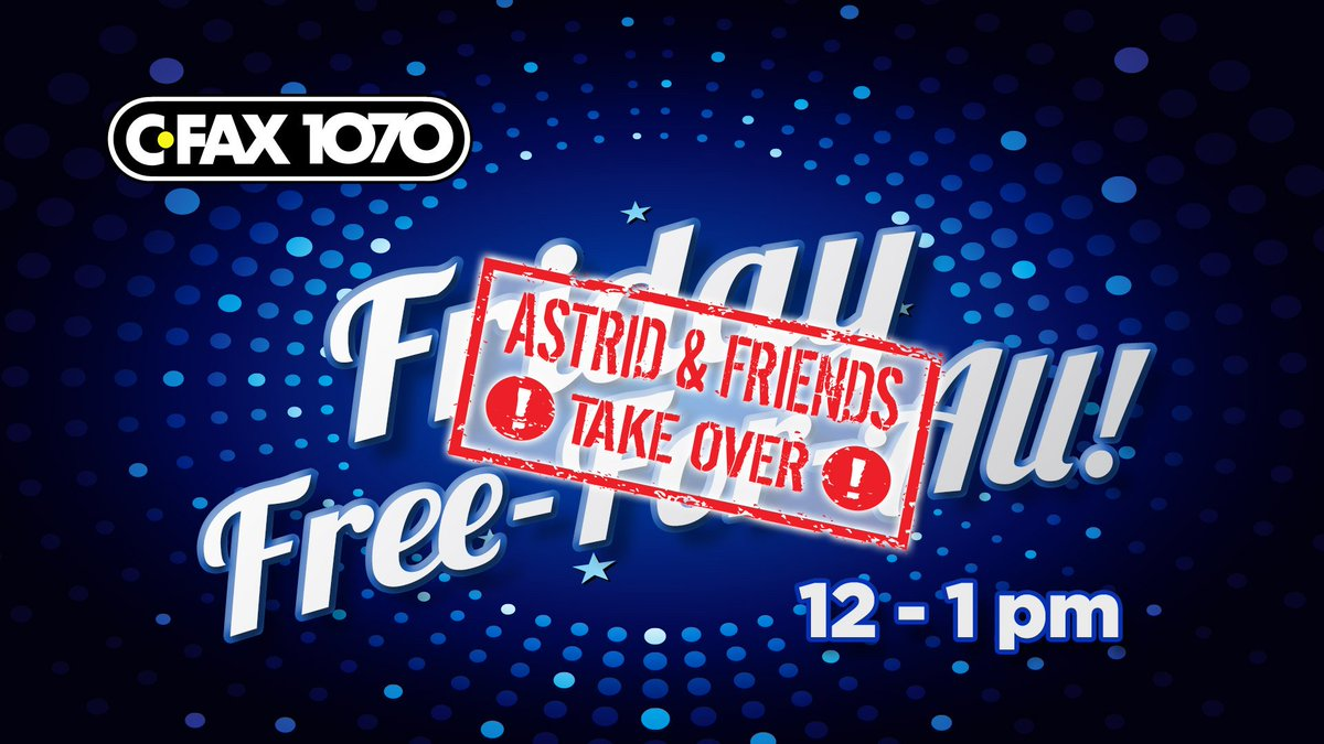 By Popular Demand Another Free Talk At >> Astrid On Twitter Excited To Return To Cfax1070 For One More