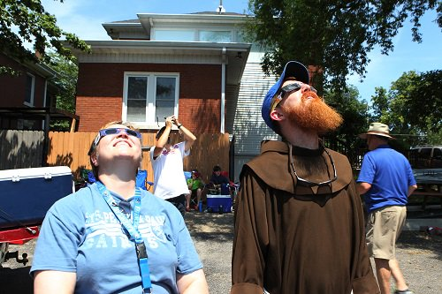 One year ago: #Eclipse2017 Here's a photo from #Kentucky. (CNS photo/ @DennisSadowski )