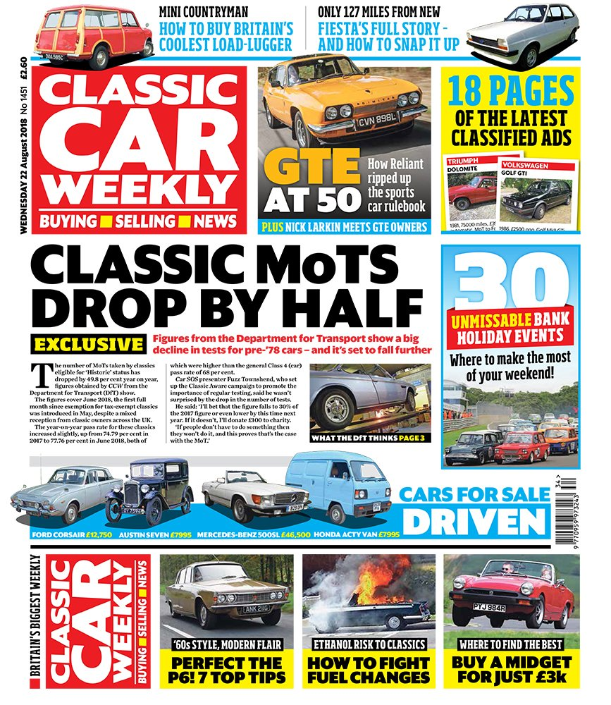 Classic Car Weekly On Twitter The Latest Classic Mot Figures