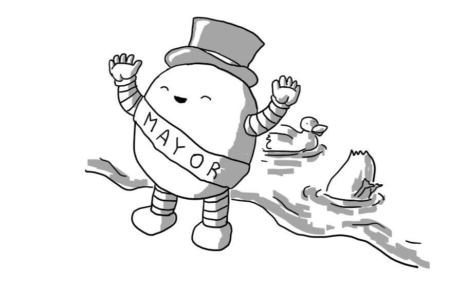 Mayor Sash Cartoon