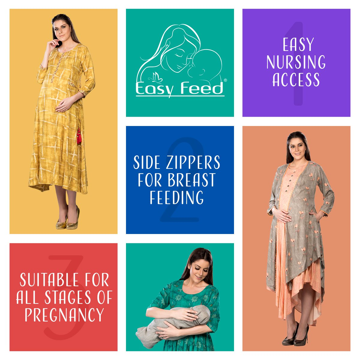 Super stylish nursing dresses feature hidden zippers with easy nursing access for women. Breastfeeding effortlessly. Shop Now at http://www.easyfeed.in  #EasyFeed #momtobe #moms #maternitydresses #feedingkurtis #maternitykurtas #maternityfashion #maternitystyles #dressesforwomenpic.twitter.com/PtahxkAgNM