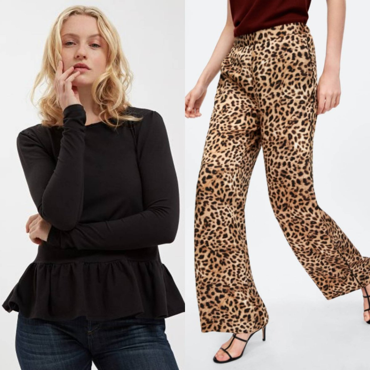 7dde8690 These Zara trousers are the perfect accompaniment to our LTD Peplum tee. # leopard #print #zara #peplum #tee #vreeland #idolpic.twitter.com/s9KSYbbxgA
