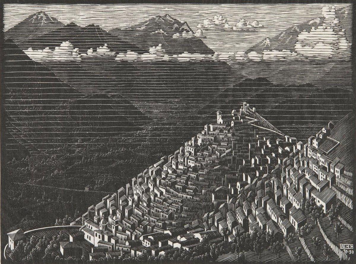Federico Italiano On Twitter Italian Landscapes By M C Escher 1898 1972