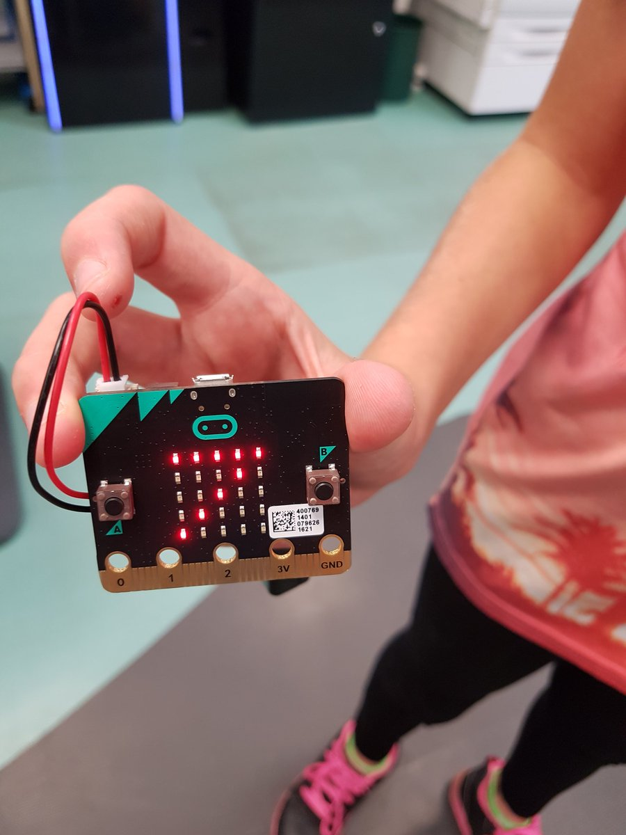 Plymouth Libraries On Twitter Niamh Coded A Microbit So It Could Simple Combination Lock Digital Integrated Circuits Electronics Tell Us The Temperature In Efford Library Its 27c