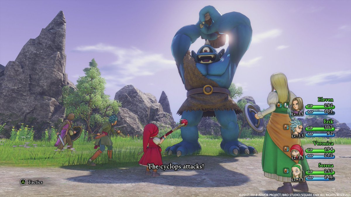 Image result for dragon quest xi english battle
