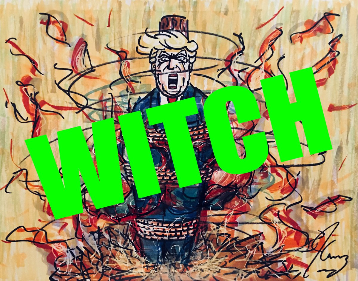 Jim Carrey Turns Donald Trump's 'Witch Hunt' Cry Against Him In New Art