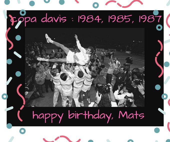 Happy Birthday Mats Wilander, Campeón    1984, 1985, 1987!