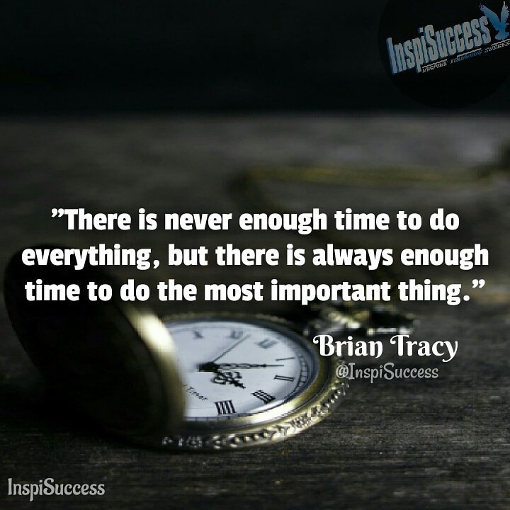 inspisuccess on there is never enough time to do