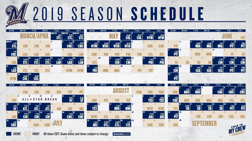 Unusual image regarding milwaukee brewers printable schedule