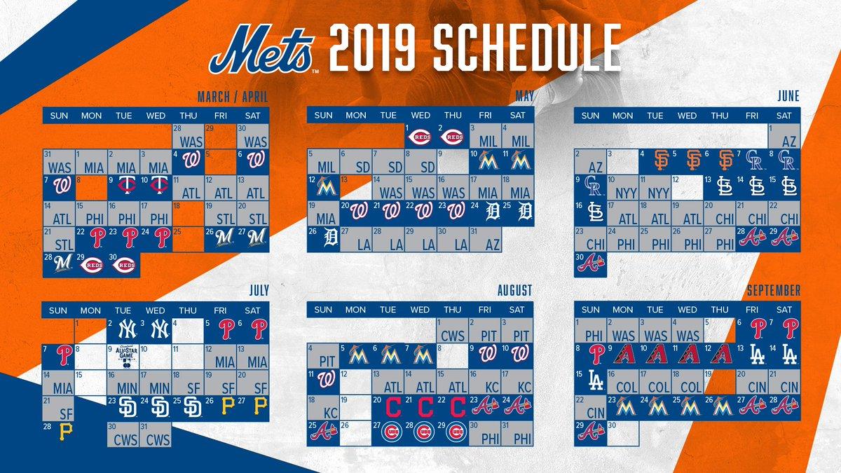 New York Mets Schedule 2019 New York Mets on Twitter: