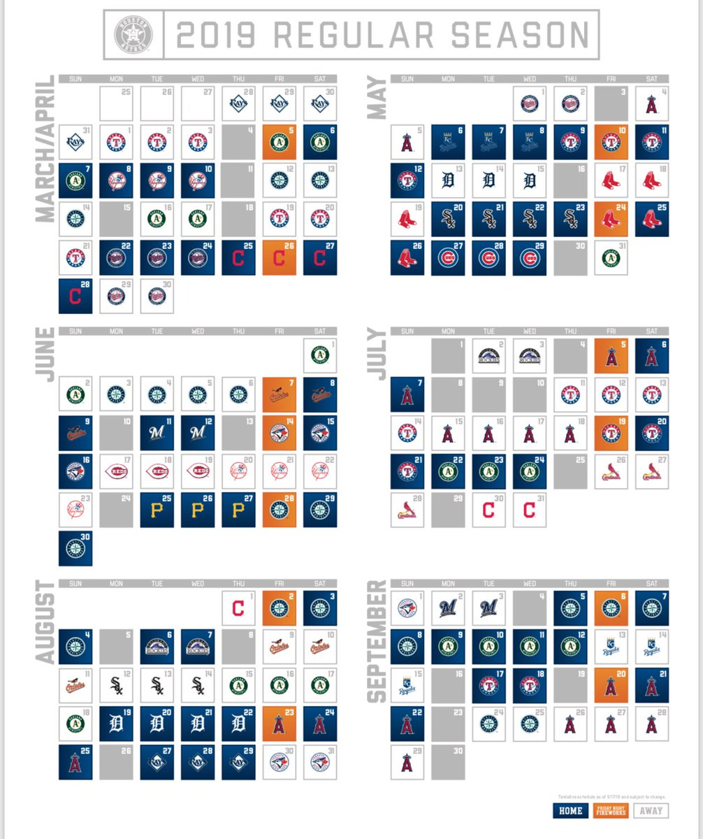 graphic relating to Houston Astros Printable Schedule named Daniel Gotera upon Twitter: \