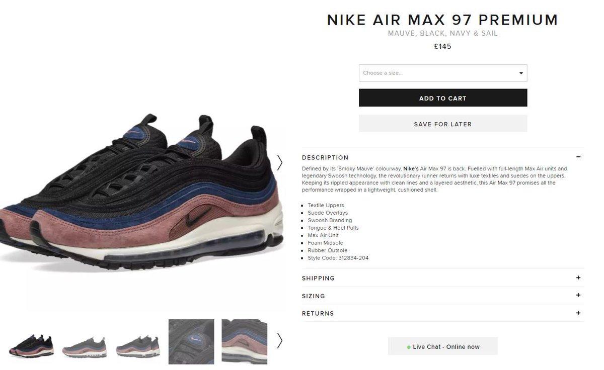 The Sole Restocks on Twitter: Nike Air Max 97 Premium