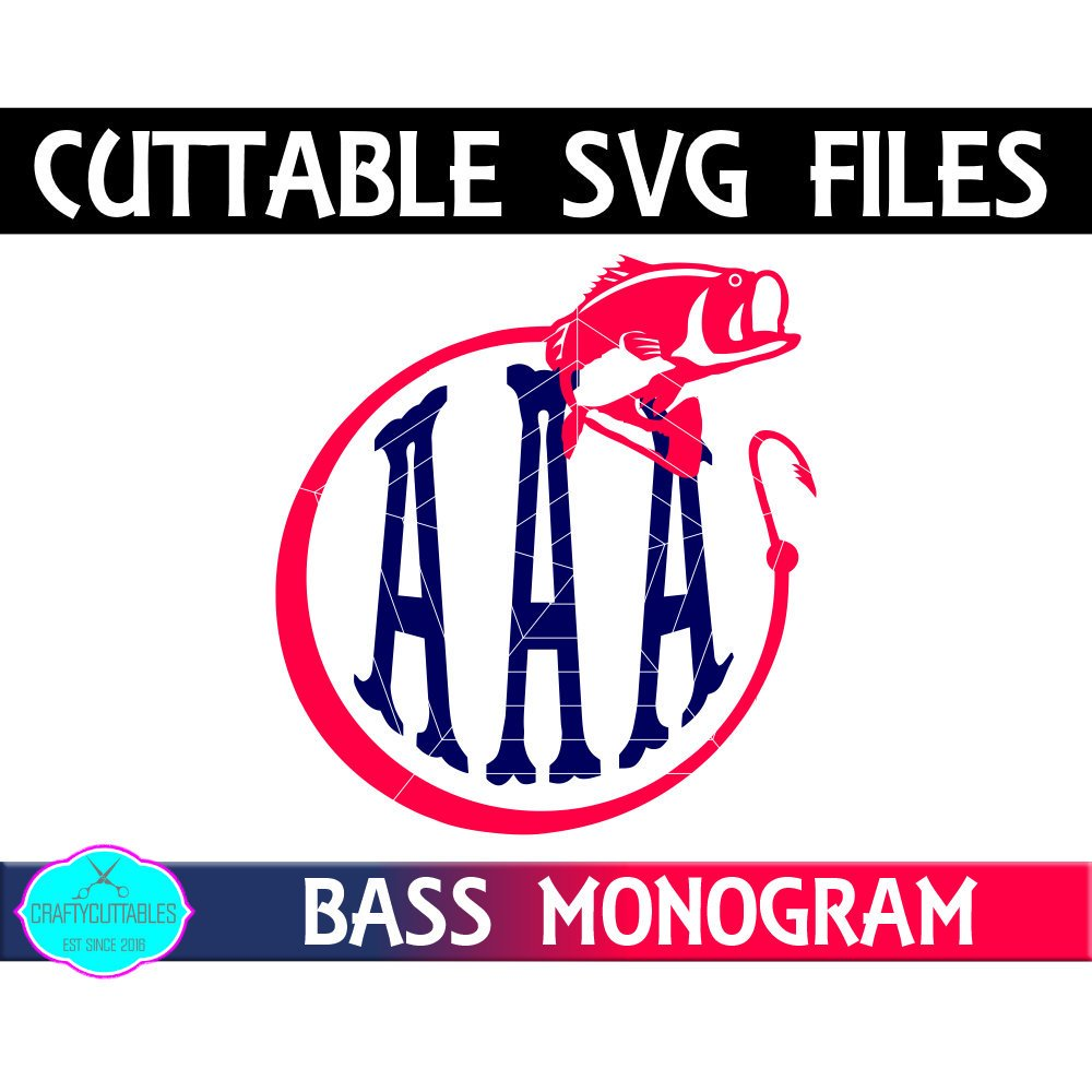 Download Crafty Cuttables On Twitter Crafty Cuttables Store Wide Sale We Look Forward To Seeing You Check Out My Newest Listing Here Https T Co Dmcug4jyjf Fishing Monogram Bass Fish Svg Svg Monogram Fish Monogram Bass Monogram Svg Monogram Svg File