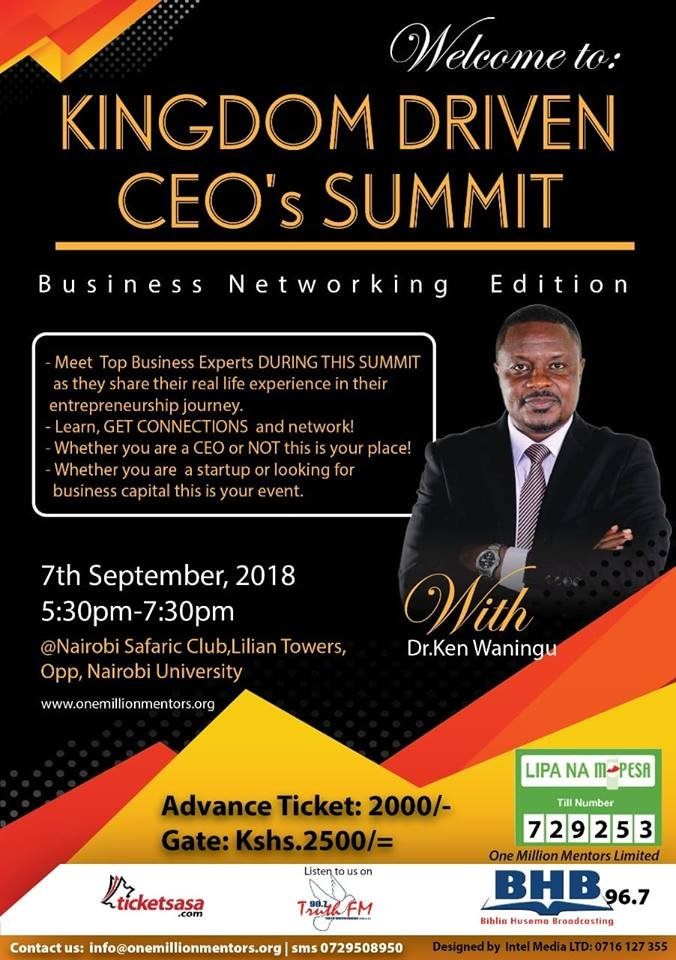 Biblia Husema 96 7fm On Twitter Don T Waste Your Money On What You Could Have Achieved On A Single Advice Or Less Money Come Connect From Our Big Network Of Seasoned Entrepreneurs Kingdomdrivenceosummit
