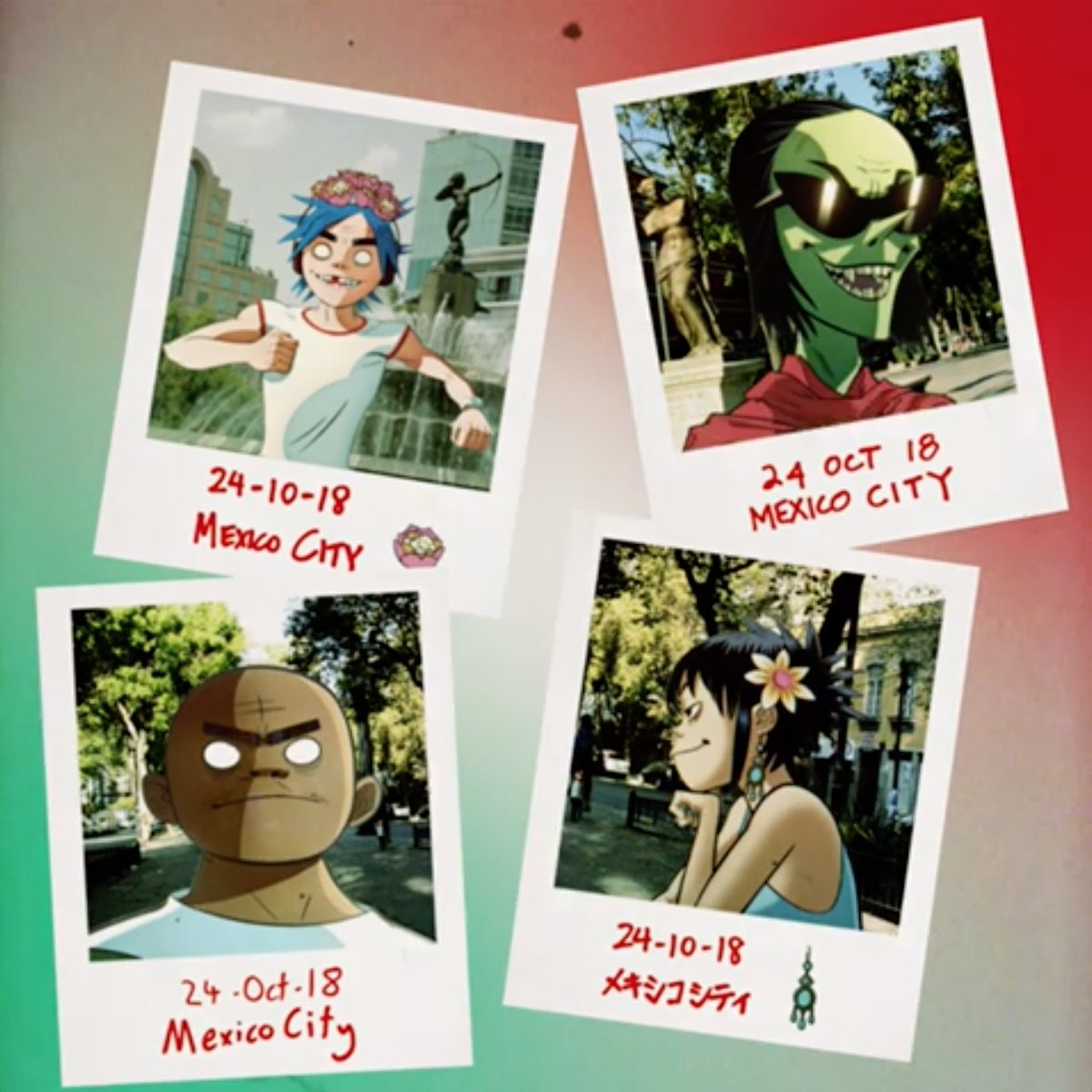 "gorillaz on Twitter: ""#TheNowNow Tour is coming to Mexico on October 24 🇲🇽 📍Palacio de los Deportes @ElPalacioMx 🎫 Pre-sale Aug 29/30 🎫 General sale Aug 31 https://t.co/OmQwxrfBbr… https://t.co/JOxIYNpv9B"""
