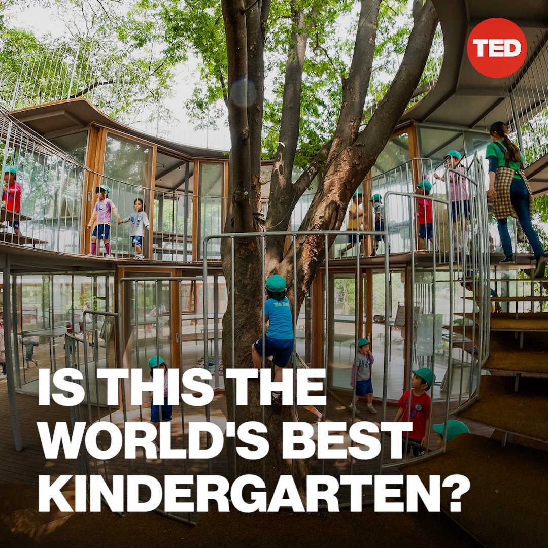 This kindergarten is designed to let kids be kids.  Watch the full TED Talk here: https://t.co/Wyq8dR2nSA https://t.co/jwP0MElNIV