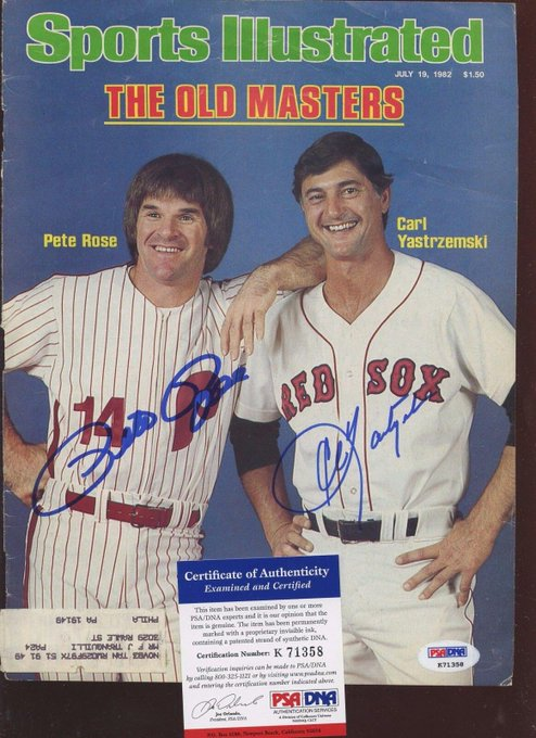 Pete Rose and Carl Yastrzemski The Old Masters Happy Birthday Carl!