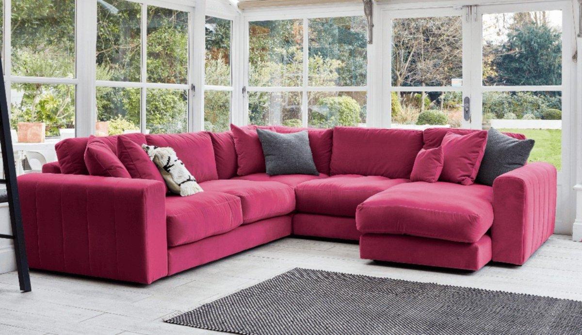 Colourful Fabric Corner Units Chaise