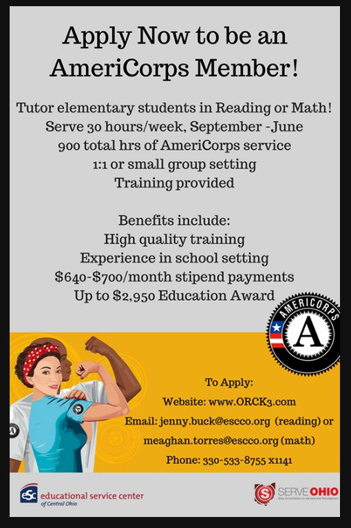 Pickerington Schools On Twitter Americorps And The Educational