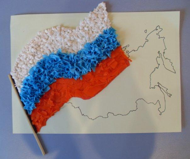 Смешные, объемная открытка флаг россии