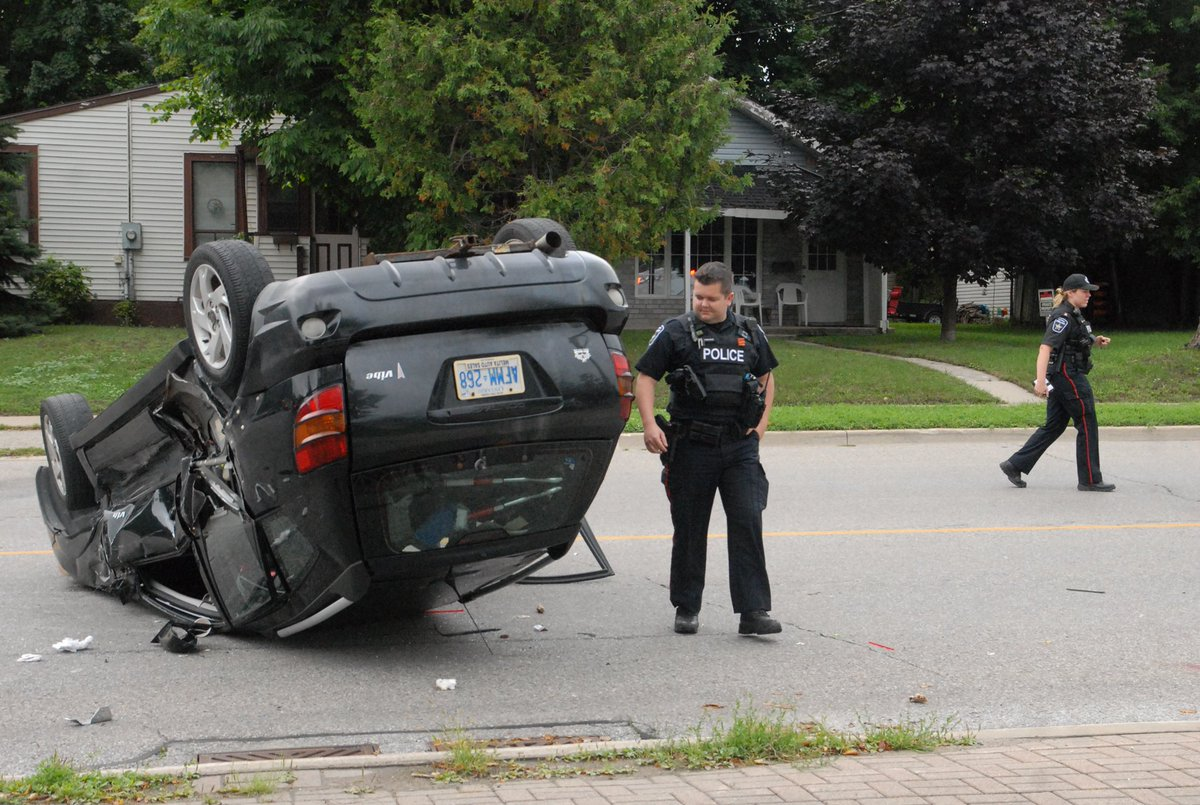 it's the second time residents have seen a car flip over in this