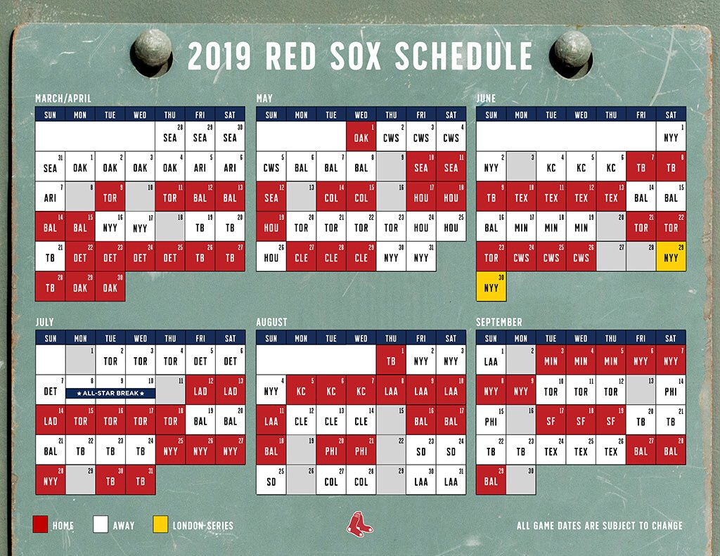 Witty image within red sox printable schedule