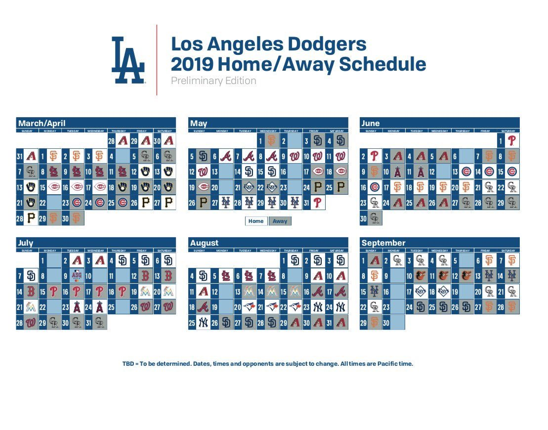 "dodgers-lowdown on twitter: ""here is a look at the 2019 season"