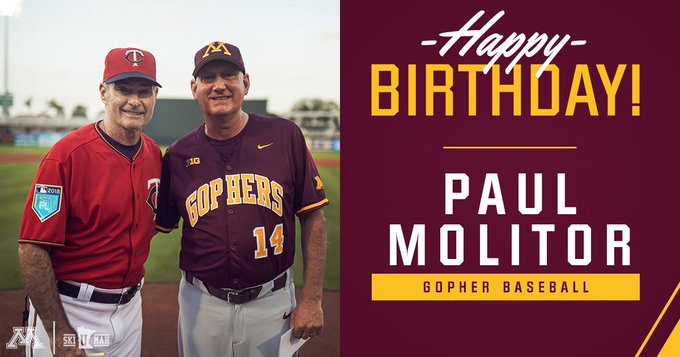 Saying to wish legend and manager Paul Molitor a very happy birthday today!