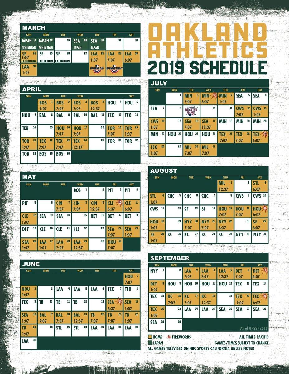 2019 Sf Giants Printable Schedule