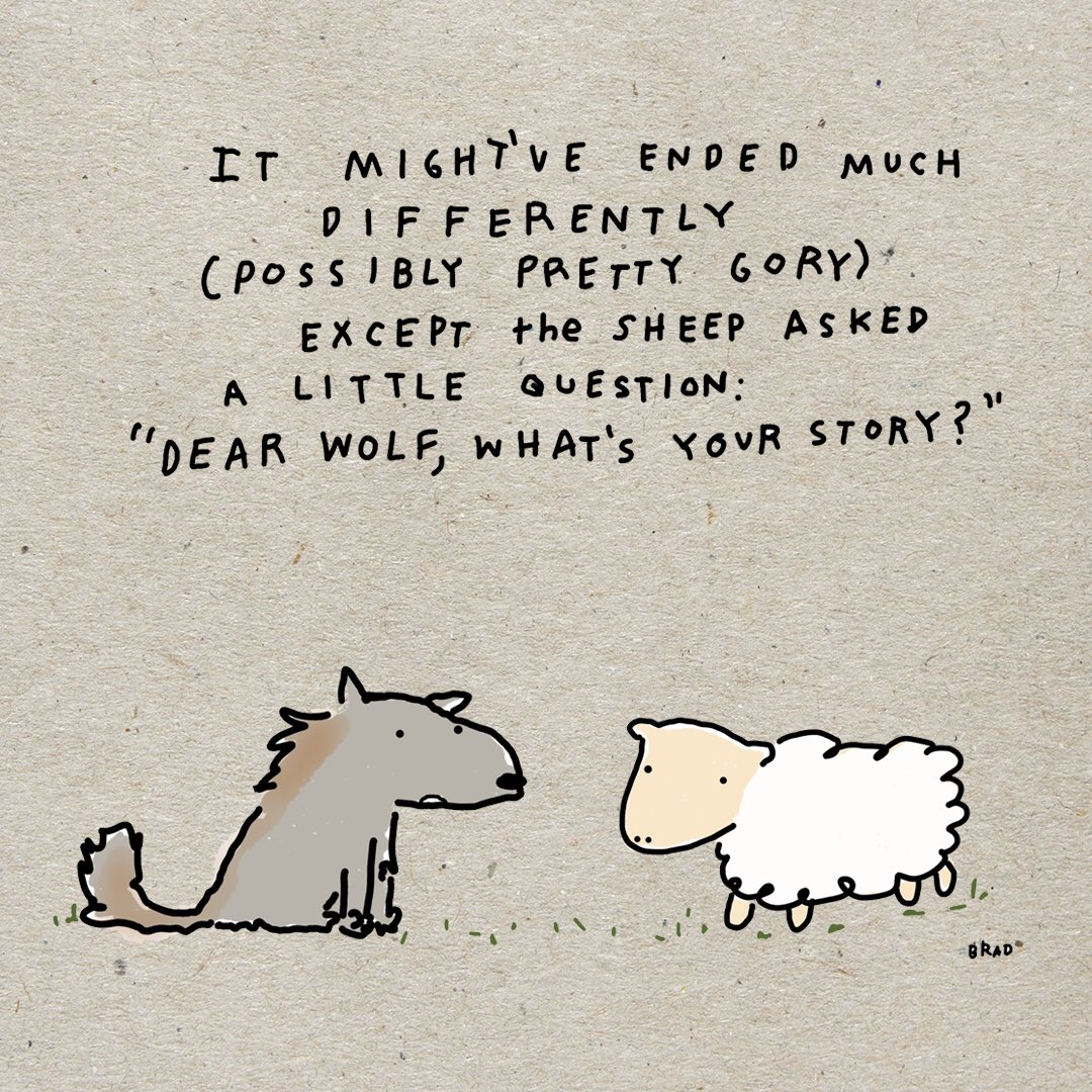 Once up on a time, a wolf met a sheep ...